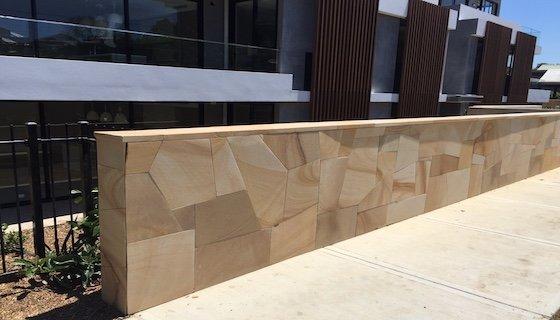 Crazy Sandstone Sydney wall clading